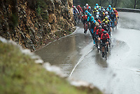 Picture by Alex Broadway/SWpix.com - 11/03/2018 - Cycling - 2018 Paris Nice - Stage Eight - Nice to Nice - The peloton climbs out of Nice in the rain.<br /> <br /> NOTE : FOR EDITORIAL USE ONLY. THIS IS A COPYRIGHT PICTURE OF ASO. A MANDATORY CREDIT IS REQUIRED WHEN USED WITH NO EXCEPTIONS to ASO/Alex Broadway MANDATORY CREDIT/BYLINE : ALEX BROADWAY/ASO