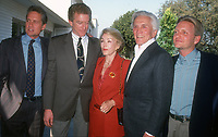 Michael Douglas, Peter Douglas, Anne Douglas, Kirk Douglas, Eric Douglas, 1992, Photo By Michael Ferguson/PHOTOlink