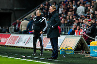 ( L-R ) Francesco Guidolin, Manager of Swansea City   and Ronald Koeman Manager of Southampton during the Barclays Premier League match between Swansea City and Southampton  played at the Liberty Stadium, Swansea  on February 13th 2016