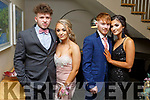 Attending the Gaelcholaiste Chiarrai Debs in the Ballyroe Heights Hotel on Saturday night.<br /> L-r, Aaron Shine, Lauren Scannell, Vanessa Horvathova and Jamie Heffernan.