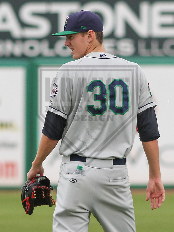 APPLETON - June 2015: Cedar Rapids Kernels pitcher Michael Cederoth (30) during a Midwest League baseball game against the Wisconsin Timber Rattlers on June 30th, 2015 at Fox Cities Stadium in Appleton, Wisconsin. Cedar Rapids defeated Wisconsin 3-2. (Brad Krause/Krause Sports Photography)