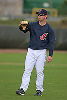 Cleveland Indians Trot Nixon during practice before a Grapefruit League Spring Training game at the Chain of Lakes Complex on March 16, 2007 in Winter Haven, Florida.  (Mike Janes/Four Seam Images)