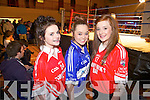 Annie Dillon and Katie Ahern from Duagh with Muireann Hickey from Mountcollins  ahead of fight night in Abbeyfeale for 'The Brawl in the Hall' between Abbeyfeale Gaa and Mountcollins GAA last Saturday night.