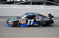 Jul. 3, 2008; Daytona Beach, FL, USA; NASCAR Sprint Cup Series driver Denny Hamlin during practice for the Coke Zero 400 at Daytona International Speedway. Mandatory Credit: Mark J. Rebilas-
