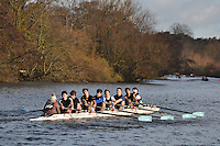 014 .WAD-Atkinson .IM2.8+ .Wadham Coll. Wallingford Head of the River. Sunday 27 November 2011. 4250 metres upstream on the Thames from Moulsford railway bridge to Oxford Universitiy's Fleming Boathouse in Wallingford. Event run by Wallingford Rowing Club..
