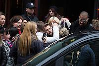 Matt Pokora surrounded by his fans in Brussels - Belgium - Exclu