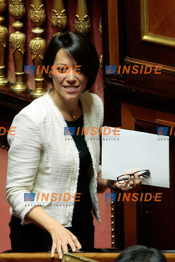 Nunzia De Girolamo.Roma 30/04/2013 Senato. Voto di fiducia al nuovo Governo..Senate. Trust vote to the new Government.Photo Samantha Zucchi Insidefoto
