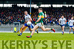Dara Moynihan  Kerry in action against Ryan Wylie Monaghan during the Allianz Football League Division 1 Round 5 match between Kerry and Monaghan at Fitzgerald Stadium in Killarney, on Sunday.