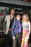 "Eric Etebari (actor in Affirmative Act), Jana Mattioli (Director of foms) and Blanche Baker (in film) attend the Filmmakers' Reception and Opening Night of the Hoboken International Film Festival - World Premiere Screening of ""An Affirmative Act"" - the first-ever courtroom drama about the legalization of Gay marriage on June 3, 2010 at the Cedar Lane Cinemas, Teaneck, New Jersey. (Photo by Sue Coflin/Max Photos)"