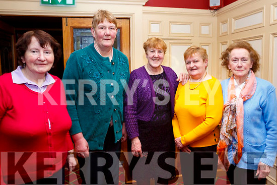 Bridie Lane (Brosna), Sarah McCauliffe (Knocknagoshel), Maisie McCarthy (Farranfore), Mary O'Connor (Currow) and Winnie Greaney  (Knocknagoshel) enjoying the Sliabh Luachra Active Retirement Tea Dance afternoon in the River Island Hotel, Castleisland on Sunday last,