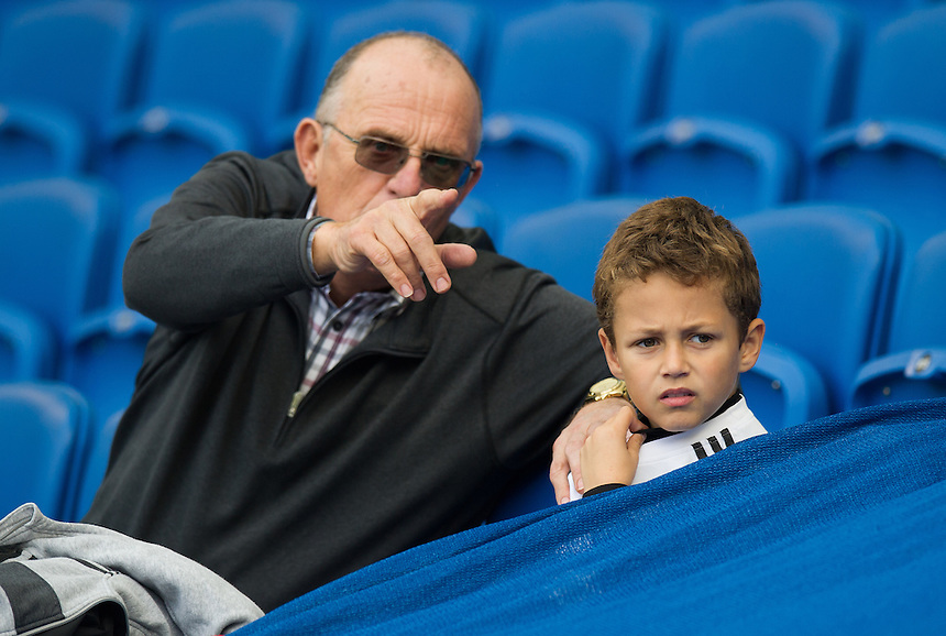 Preston North End fans before the game<br /> <br /> Photographer Ashley Western/CameraSport<br /> <br /> The EFL Sky Bet Championship - Brighton &amp; Hove Albion v Preston North End - Saturday 15th October 2016 - American Express Community Stadium - Brighton<br /> <br /> World Copyright &copy; 2016 CameraSport. All rights reserved. 43 Linden Ave. Countesthorpe. Leicester. England. LE8 5PG - Tel: +44 (0) 116 277 4147 - admin@camerasport.com - www.camerasport.com