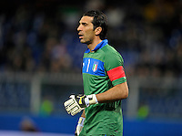 Goalkeeper Gianluigi Buffon (ITA), during the friendly match Italy against USA at the Stadium Luigi Ferraris at Genova Italy on february the 29th, 2012.