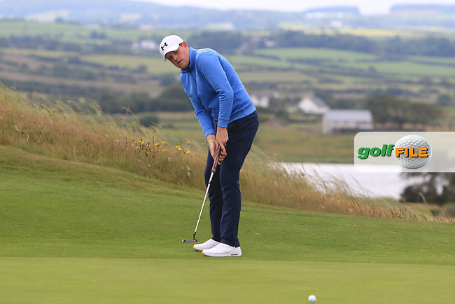 Matthew McLean (Malone) on the 17th during Round 2 of the North of Ireland Amateur Open Championship 2019 at Portstewart Golf Club, Portstewart, Co. Antrim on Tuesday 9th July 2019.<br /> Picture:  Thos Caffrey / Golffile<br /> <br /> All photos usage must carry mandatory copyright credit (© Golffile | Thos Caffrey)