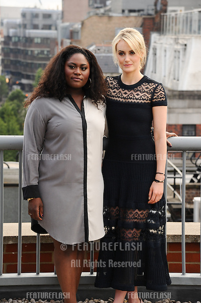Taylor Schilling and Danielle Brooks<br /> at the &quot;Orange is the New Black&quot; photocall, Soho Hotel, London. 29/05/2014 Picture by: Steve Vas / Featureflash