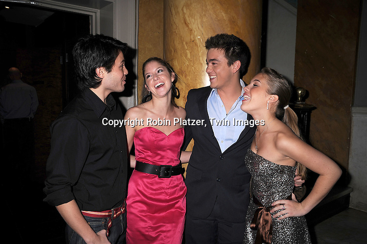 Jason Tam, Brittany Underwood, Brandon Buddy and Kristen Alderson.at The One Life to Live Holiday Party on December 19, 2007 at Capitale in New York. .Robin Platzer, Twin Images