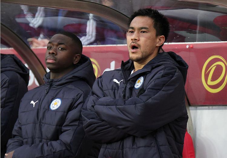 Leicester City's Shinji Okazaki takes his position on the bench ahead of kick off<br /> <br /> Photographer Rich Linley/CameraSport<br /> <br /> The Premier League - Sunderland v Leicester City - Saturday 3rd December 2016 - Sunderland Stadium of Light - Sunderland<br /> <br /> World Copyright &copy; 2016 CameraSport. All rights reserved. 43 Linden Ave. Countesthorpe. Leicester. England. LE8 5PG - Tel: +44 (0) 116 277 4147 - admin@camerasport.com - www.camerasport.com
