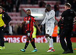 Jermain Defoe of Bournemouth talks to Romelu Lukaku of Manchester United during the premier league match at the Vitality Stadium, Bournemouth. Picture date 18th April 2018. Picture credit should read: David Klein/Sportimage