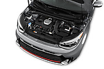 Car Stock 2017 KIA Soul Exclaim 5 Door Hatchback Engine  high angle detail view