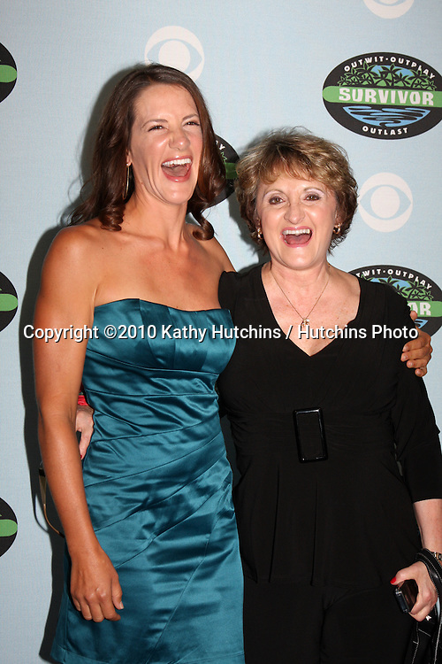 """Kelly Wiglesworth & mom.arrivng at the """"Survivor"""" 10 Year Anniverary Party .CBS Television CIty.Los Angeles, CA.January 9, 2010.©2010 Kathy Hutchins / Hutchins Photo...."""