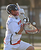 Jesse Gropper #6, Syosset goalie, makes a save in the third quarter of a Nassau County varsity boys lacrosse game against Oceanside at Syosset-Woodbury Community Park on Tuesday, Apr. 12, 2016. Syosset won by a score of 18-4.