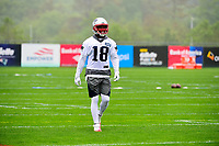 June 6, 2017: New England Patriots wide receiver Matthew Slater (18) does drills at the New England Patriots mini camp held on the practice field at Gillette Stadium, in Foxborough, Massachusetts. Eric Canha/CSM