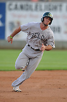 Beloit Snappers Brett Siddall (35) runs to third base during the Midwest League game against the Clinton LumberKings at Ashford University Field on June 11, 2016 in Clinton, Iowa.  The LumberKings won 7-6.  (Dennis Hubbard/Four Seam Images)