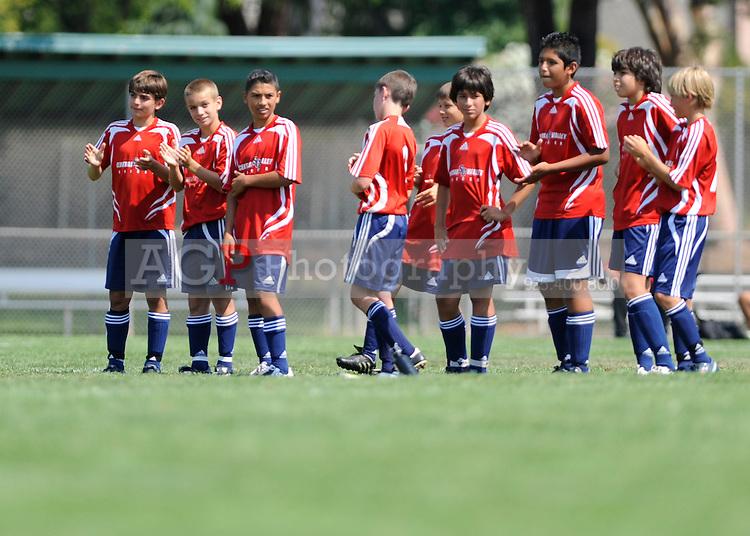 The U13 Santa Clara Sport Vs CV Gunners during the BUSC Summer Classic in Pleasanton, California August 16, 2009. (Photo by Alan Greth)