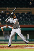 Mesa Solar Sox second baseman Elliot Soto (2) at bat during an Arizona Fall League game against the Scottsdale Scorpions on October 20, 2015 at Scottsdale Stadium in Scottsdale, Arizona.  Mesa defeated Scottsdale 5-4.  (Mike Janes/Four Seam Images)