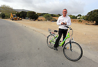 Pictured: Andy Lines, Daily Mirror reporter at the second site in Kos, Greece. Wednesday 12 October 2016<br />Re: Police teams led by South Yorkshire Police are searching for missing toddler Ben Needham on the Greek island of Kos.<br />Ben, from Sheffield, was 21 months old when he disappeared on 24 July 1991 during a family holiday.<br />Digging has begun at a new site after a fresh line of inquiry suggested he could have been crushed by a digger.
