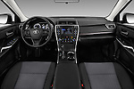 Stock photo of straight dashboard view of 2017 Toyota Camry 2.5-Auto-LE 4 Door Sedan Dashboard