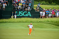 Rickie Fowler (USA) awaits to putt on 6 during Sunday's round 4 of the 117th U.S. Open, at Erin Hills, Erin, Wisconsin. 6/18/2017.<br /> Picture: Golffile | Ken Murray<br /> <br /> <br /> All photo usage must carry mandatory copyright credit (&copy; Golffile | Ken Murray)