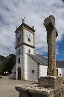 France, Morbihan (56), Golfe du Morbihan, Île-aux-Moine: Église Saint-Michel de l'Île-aux-Moines. // France, Morbihan, Gulf of Morbihan, Île-aux-Moines