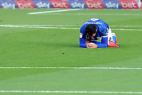 10th July 2020; Craven Cottage, London, England; English Championship Football, Fulham versus Cardiff City; A dejected looking Sean Morrison of Cardiff City after missing a chance
