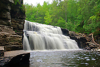 Big Canyon Falls on the Sturgeon River near L'Anse, Michigan.