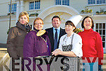 Chef Shelia Brosnan practicing flipping her pancakes for the  Killarney Soroptimist's Pancake Tuesday morning which will be held in the Killarney Avenue Hotel on 21st February in aid of Kerry Life Skills and Home from Home charities l-r: Mary Hartnett-O'Donoghue, Denis McCarthy, Sheila Brosnan and Ann Lucey............
