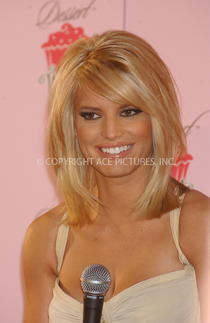 "WWW.ACEPIXS.COM . . . . . ....NEW YORK, FEBRUARY 9, 2005....Jessica Simpson at the unveiling of her new fragrance and body care line ""Dessert Treats.""....Please byline: KRISTIN CALLAHAN - ACE PICTURES.. . . . . . ..Ace Pictures, Inc:  ..Philip Vaughan (646) 769-0430..e-mail: info@acepixs.com..web: http://www.acepixs.com"