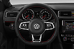 Car pictures of steering wheel view of a 2017 Volkswagen Jetta GLI 4 Door Sedan Steering Wheel