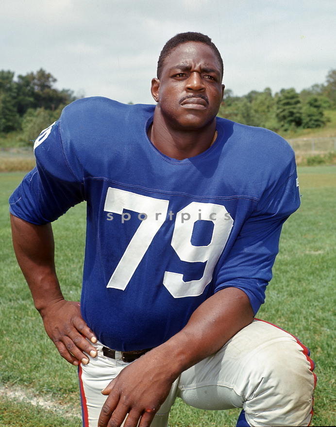 New York Giants Rosey Brown(79) portrait from his career with the New York Giants. Rosey Brown played for 13 season, all with the New York Giants, was a 9-time Pro Bowler and was inducted to the Pro Football Hall of Fame in 1975.(SportPics)