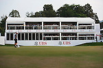 UBS pavilion at Hong Kong Open golf tournament at the Fanling golf course on 24 October 2015 in Hong Kong, China. Photo by Xaume Olleros / Power Sport Images