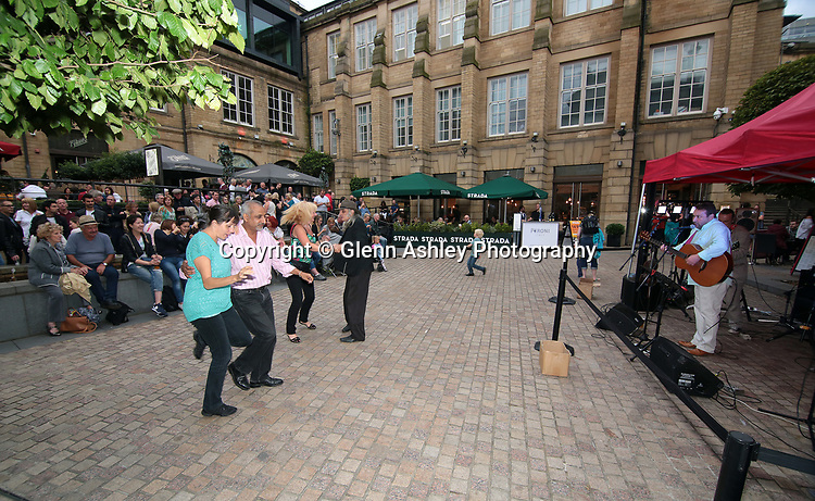 The Dizzy Club performing in Leopold Square, Sheffield, United Kingdom, 21st July2017. Photo by Glenn Ashley.