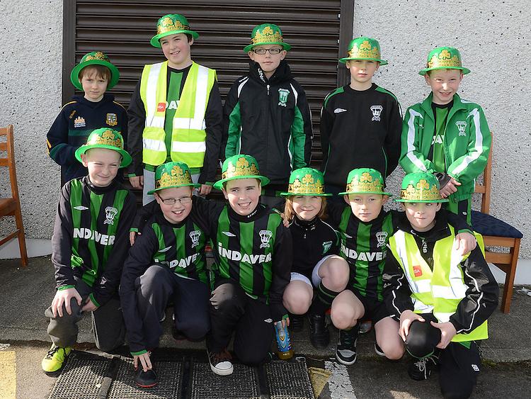 Duleek under eleven Rovers who took part in the Inaugural Duleek schoolboy/girl soccer club 5k Run/Walk. Photo:Colin Bell/pressphotos.ie