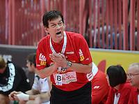 Handball 1. Bundesliga  2012/2013  in der Paul Horn Arena Tuebingen 15.09.2012 TV Neuhausen - Frisch Auf Goeppingen Trainer Velimir Petkovic (Frisch Auf)