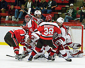 - The St. Lawrence University Saints defeated the Harvard University Crimson 3-2 on Friday, November 20, 2009, at the Bright Hockey Center in Cambridge, Massachusetts.
