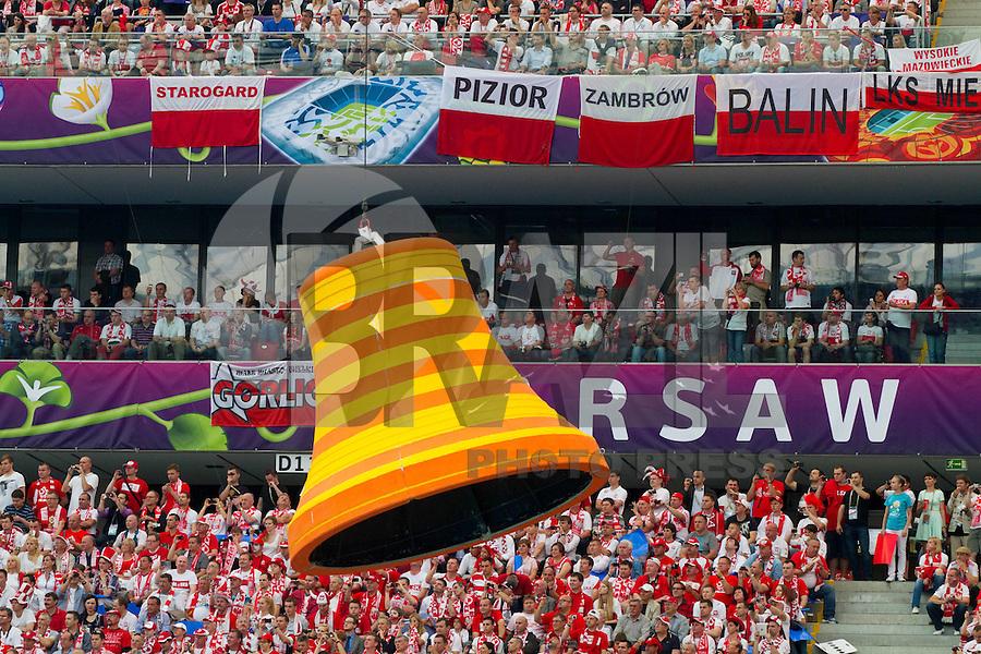 VARSOVIA, POLONIA, O8 JUNHO 2012 - CERIMONIA ABERTURA EURO 2012 -  Cerimonia de abertura da Euro 2012 em Varsovia na Polonia. (FOTO: VID PONIKVAR / PIXATHLON / BRAZIL PHOTO PRESS).