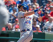 New York Mets third baseman J.D. Davis (28) bats in the second inning against the Washington Nationals at Nationals Park in Washington, D.C. on Wednesday, September 4, 2019. <br /> Credit: Ron Sachs / CNP<br /> (RESTRICTION: NO New York or New Jersey Newspapers or newspapers within a 75 mile radius of New York City)