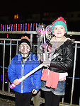 Daniel and Sorcha McCabe at the fireworks display at Scotch Hall. Photo:Colin Bell/pressphotos.ie