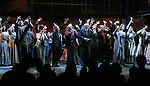 """Ensemble cast with Lynn Ahrens, Stephen Flaherty, Terrence McNally, E.L. Doctorow & Marcia Milgrom Dodge during the Opening Night Performance Curtain Call for  the Broadway Musical """"RAGTIME"""" at The Neil Simon Theatre on November 15, 2009  in New York City."""