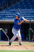 Toronto Blue Jays Cal Stevenson (18) at bat during a Florida Instructional League game against the Philadelphia Phillies on September 24, 2018 at Spectrum Field in Clearwater, Florida.  (Mike Janes/Four Seam Images)