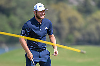 Tyrrell Hatton (ENG) reacts after barely missing his putt on 15 during day 2 of the WGC Dell Match Play, at the Austin Country Club, Austin, Texas, USA. 3/28/2019.<br /> Picture: Golffile | Ken Murray<br /> <br /> <br /> All photo usage must carry mandatory copyright credit (© Golffile | Ken Murray)