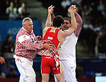Olympic Games 2012; Wrestling Men's Greco-Roman 96kg. ExCel - North Arena 2..Rustam Totrov (RUS) - Jimmy Lidberg (SWE).